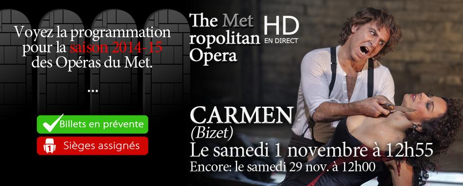 La saison 2014-2015 des Opéras du Met