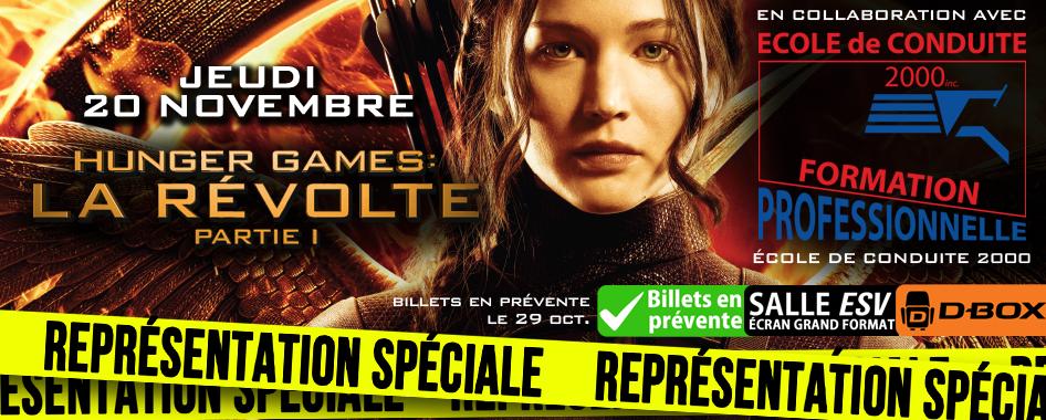 REPRÉSENTATION SPÉCIALE: HUNGER GAMES – LA RÉVOLTE PARTIE 1 EN D-BOX