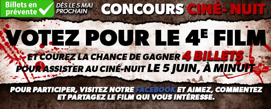 Concours Ciné-Nuit: Vote pour le 4e film