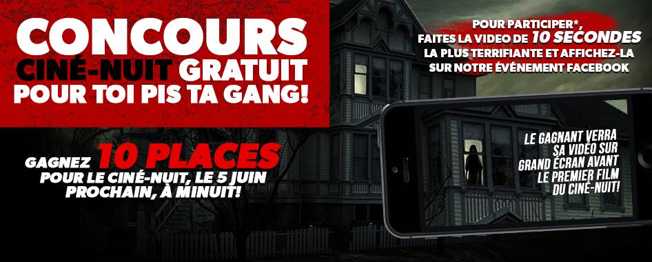 Ciné-Nuit gratuit pour toi pis ta gang!