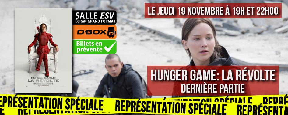 Représentation spéciale: Hunger games – la révolte dernière partie