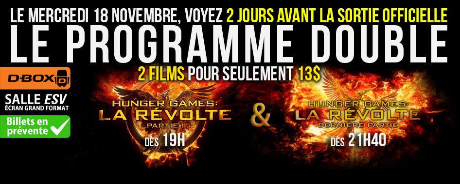 PROGRAMME DOUBLE Hunger games: La révolte