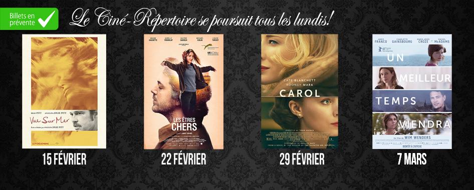 Le ciné-repertoire 8 février 2016