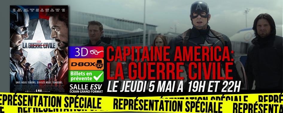 Représentation spéciale: Capitaine America