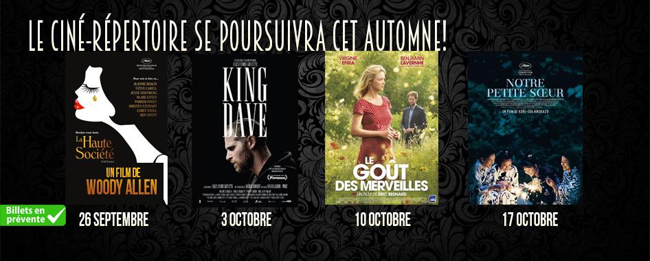 Ciné-répertoire – 19 septembre 2016