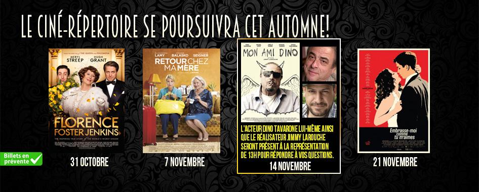 Ciné-répertoire: 24 octobre 2016