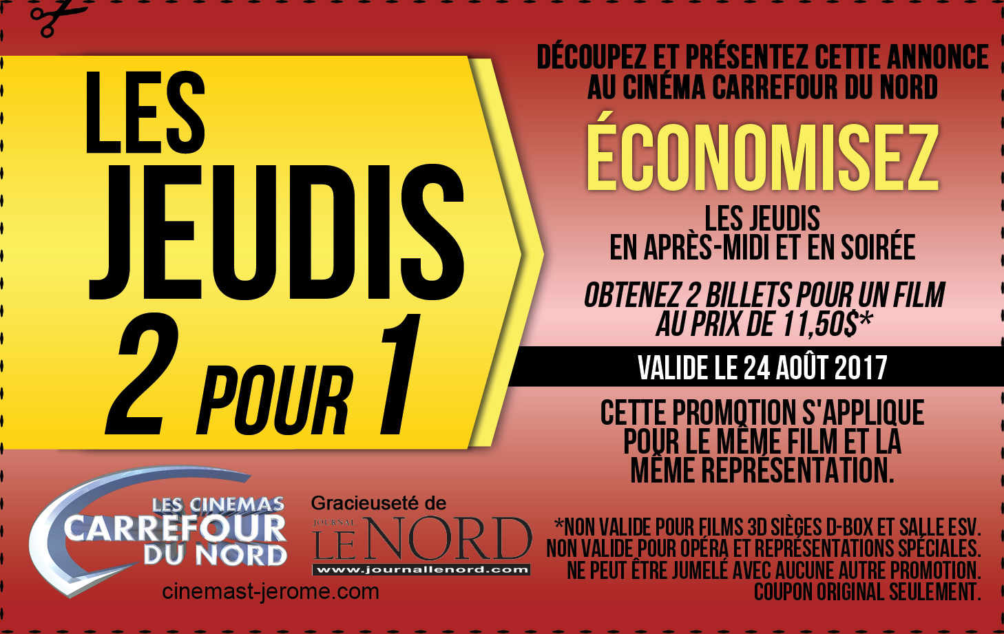coupon-2-pour-1-cinema-carrefour-du-nord