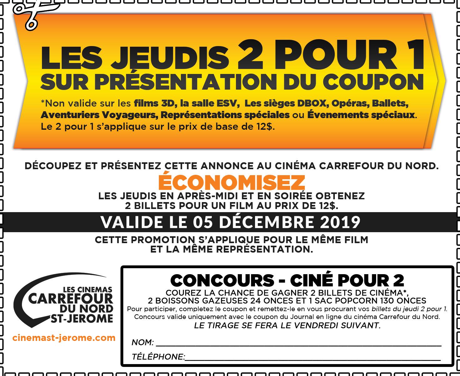 coupon-2-pour-1-cinema-carrefour-du-nord