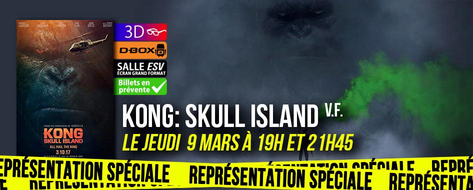 Représentation spéciale: kong: skull island
