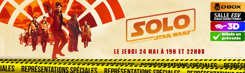 Représentation spéciale – Solo : une histoire de Star Wars